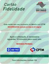 CARTÃO FIDELIDADE CPTM