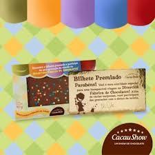 BILHETE PREMIADO CACAU SHOW