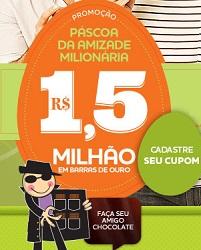 PROMOÇÃO PÁSCOA DA AMIZADE MILIONÁRIA CACAU SHOW 2013